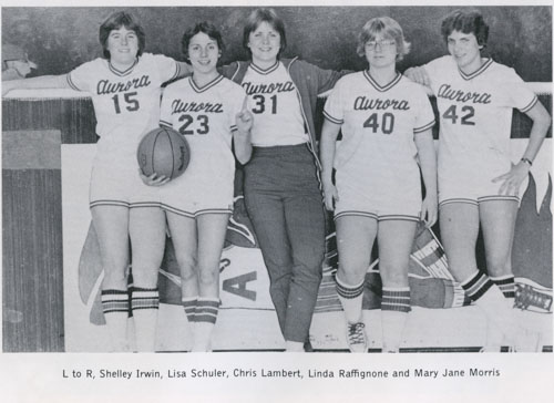 Irwin and her basketball team.